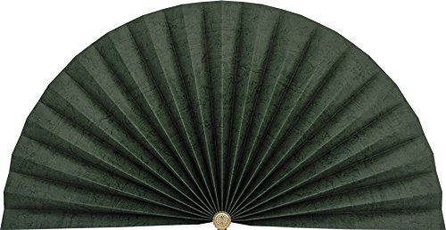 Neat Pleats Decorative Fan, Hearth Screen, or Overdoor Wall Hanging - L442 - Dark Hunter Green with Accents by Neat Pleats