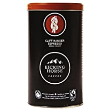 Kicking Horse Whole Bean Coffee, Cliff Hanger Espresso Medium Roast, 12.3-Ounce Tins (Pack of 2)