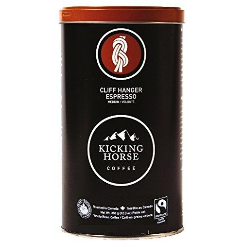 Kicking Horse Organic Whole Bean Coffee, Cliff Hanger Espresso Medium Roast, 12.3-Ounce Tins (Pack of 2)