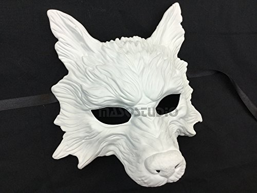 Masquerade Wolf Mask (White Wolf Mask Animal Masquerade Halloween Costume Cosplay Party mask)