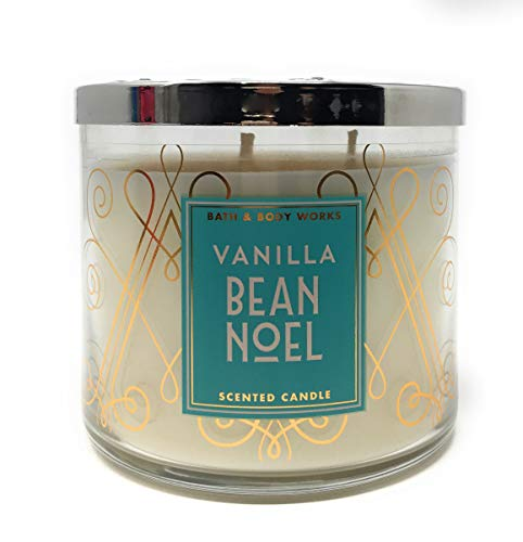 BW Bath and Body Works Vanilla Bean Noel Scented 3 Wick Candle for 2017 (Candle Noel)