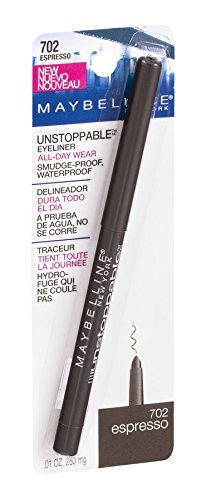 Maybelline Unstoppable Unstoppable Smudge-Proof Eyeliner, Waterproof, Espresso 702 , 0.01 oz Pack of 2