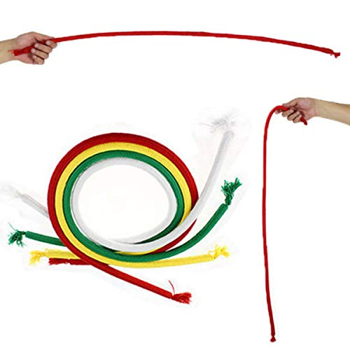 2 Pcs Stiff Rope with Video Tutorial Close Up Street Magic Trick Kids Party Show Stage Bend Soft Tricky / One hand released, and the rope stands rigid like a stick / Magic Tricks ( Random color ) (Kid Trick Rope)