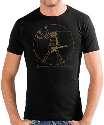 Touchlines T-Shirt Da Vinci Rock Guitar Slimfit Camiseta, Hombre: Amazon.es: Ropa y accesorios