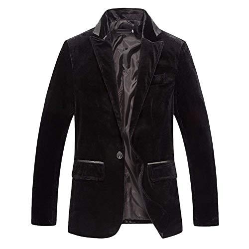 Essential Pour Gentleman Schwarz Tenue One Unicolore Bouton Tuxedo Pantalon Suits Hommes Veste Décontractée Blazer qZwgIR