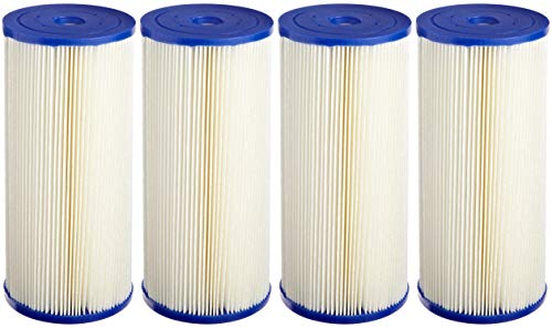 (Pentek ECP20-BB Pleated Cellulose Polyester Filter Cartridge, 9-3/4 x 4-1/2, 20 Microns (Pack of 4))