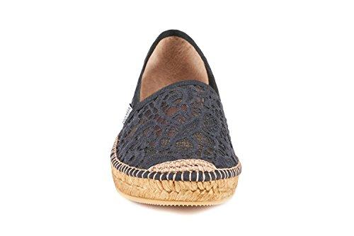 Black Crochet Femme Barcelona Viscata Espadrilles ftgq4yI