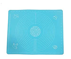 1 Set Blue Measure Non Stick Rolling Baking Mat with Measurements for Macaron Pastry Cookie Bread Making