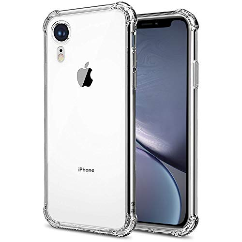 SKLYH Compatible with iPhone XR Case, Protective Hard PC Cover [Ultra Lightweight] Anti-Scratch Reinforced Corner Protection Bumper Case for iPhone XR 6.1 Inch 2018 - Crystal Clear
