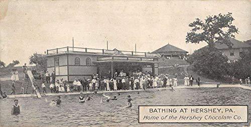 Hershey Pennsylvania Bathing Scene Chocolate Co Antique Postcard K100620