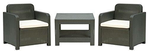 GRAND SOLEIL Grandsoleil Boheme giglio Terrace set divani, verde polimerico, antracite, 30x 30x 30cm Grandsoleil_S7570Y