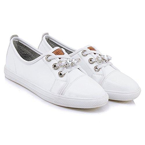Taoffen Sneakerschoenen Met Veters Voor Dames Wit