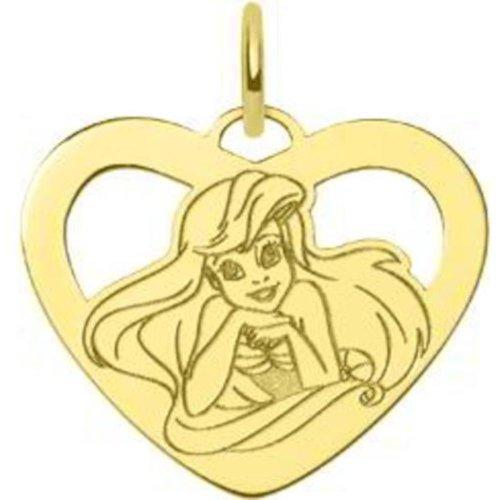 (Gold Plated St Silver Disney Princess Ariel Heart Charm)