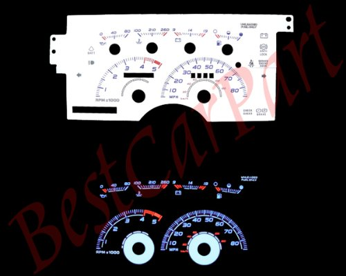 Chevy Silverado Gauge - 92-94 Chevy Silverado 5.7L V8 WHITE GLOW GAUGES