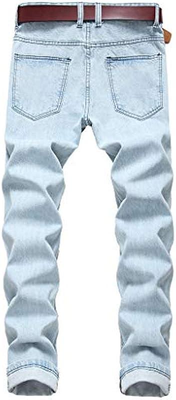 Hffan dżinsy męskie Destroyed Slim Fit dżinsy skinny stretch designerskie spodnie dżinsy denim męskie Distressed dżinsy spodnie do biegania jakość odporne na zużycie spodnie rekrea