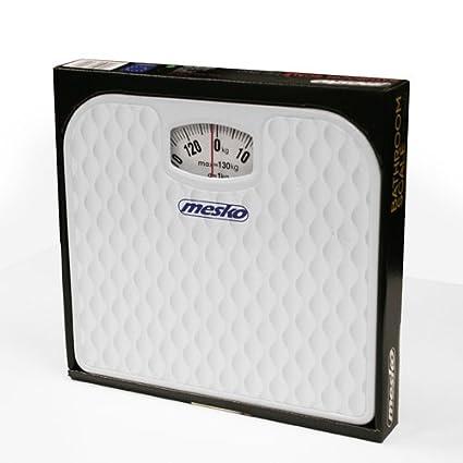Mesko MS8160 Bascula de baño mecánica blanca: Amazon.es: Salud y cuidado personal