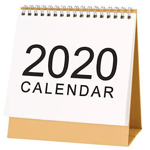Easel Calendar 2020 - 2020 Desk Calendar, Melyaxu Monthly Calendar, September 2019 - December 2020, Desktop Calendar Monthly Planner Daily Calendar Planner for School, Classroom, Home Use, 8.66