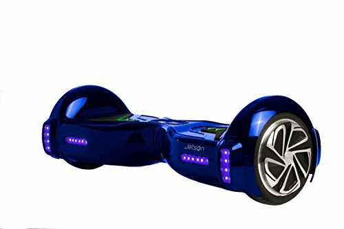 Jetson Blue V5 Hoverboard Smart 2-Wheel Electric Self Balancing Scooter - Kids 13+ yrs, Adults - Bluetooth Speaker, LED Lights, App Included - UL 2272 Certified 23 Inch Board by Jetson