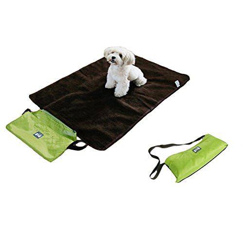 Lifeunion Portable Lightweight Collasiple Multi-use Outdoor Pet Mat Bed Kennel Floor Waterproof Self Warming Blanket for Dogs and Cats (Green )
