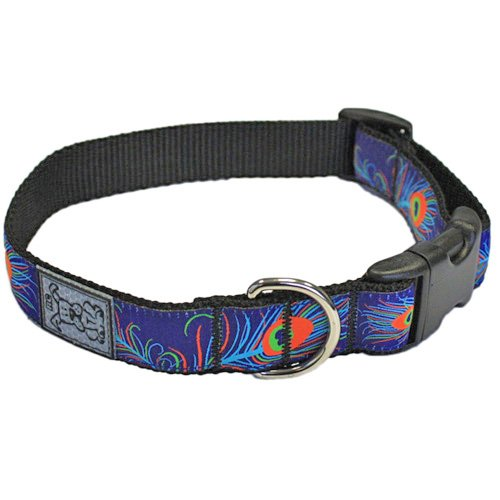 RC Pet Products 1-Inch Adjustable Dog Clip Collar, 15 by 25-Inch, Large, Regal Peacock