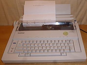Brother AX de 210 eléctrico máquina de escribir con corrección: Amazon.es: Oficina y papelería