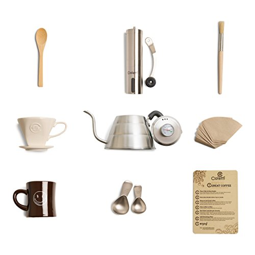 Coletti COL107 Complete 10 Piece Pour Over Coffee Set (Coffee Mill Kit compare prices)