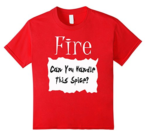 Kids Fire Hot Sauce Packet Halloween Costume Taco T-shirt 10 Red