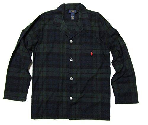 Polo Ralph Lauren Flannel Long Sleeve Pajama Top (P656) M/Blackwatch Tartan