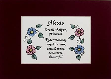 Personalized girl name meaning alexis wall picture keepsake gift personalized girl name meaning alexis wall picture keepsake gift made in the usa negle Gallery