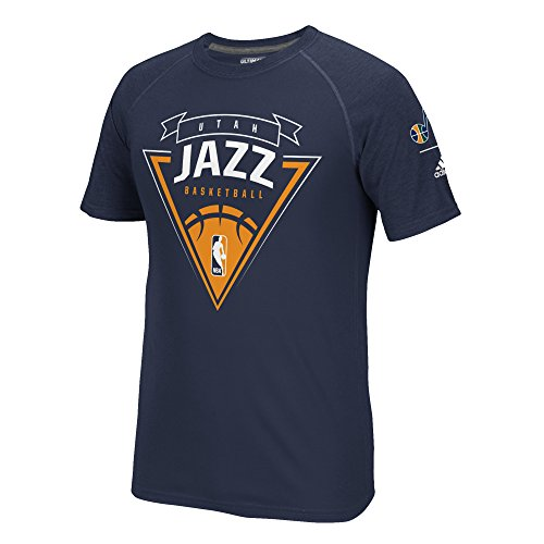 fan products of NBA Utah Jazz Men's Power Forward Climalite Ultimate S/Tee, Small, Navy