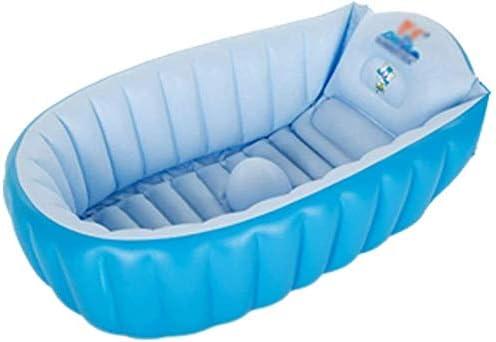 赤ちゃんインフレータブルタブ赤ちゃん大肥厚バスタブ新生児エアシャワー盆地シート浴場プール (Color : Blue)