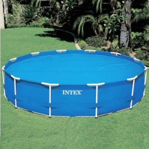 Amazon Com Metal Frame Pool Solar Cover 18 Ft Toys Amp Games