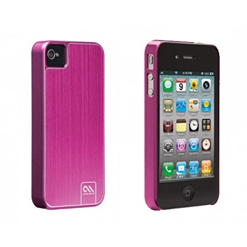 Case-Mate Barely There Case für Apple iPhone 4, 4S Brushed Alu pink (CM018054) - Blister