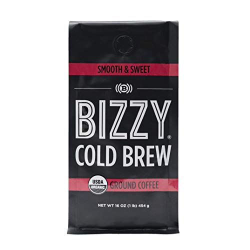 - Bizzy Organic Cold Brew Coffee - Smooth & Sweet Blend - Coarse Ground Coffee - 16 oz