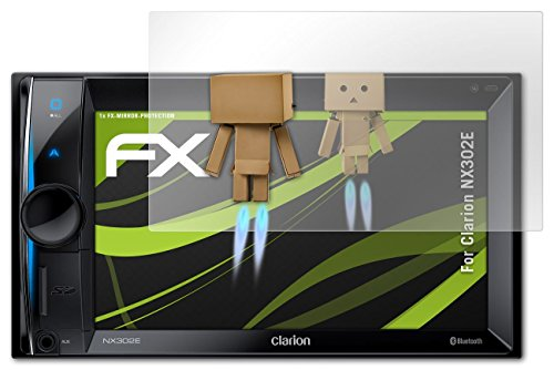 atFoliX Displayschutz Clarion NX302E Spiegelfolie - FX-Mirror mit spiegeleffekt