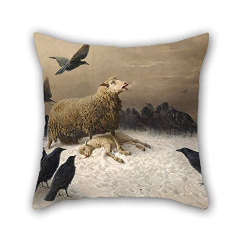 Loveloveu Pillowcase Of Oil Painting August Friedrich Albrecht Schenck - Anguish,for Bedding,father,bench,outdoor,festival,husband 16 X 16 Inches / 40 By 40 Cm(each Side)