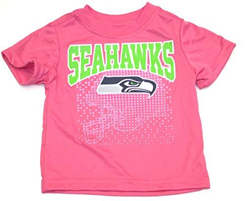 NFL Seattle Seahawks Girls Short-Sleeve Tee, Pink, 2T]()