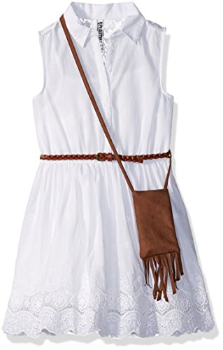 Beautees Big Girls' Sleeveless Embroidered Shirtwaist Dre...