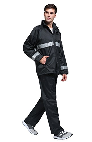 Maiyu Motorcycle Rain Suit Waterproof Rain Jacket and Pants Set