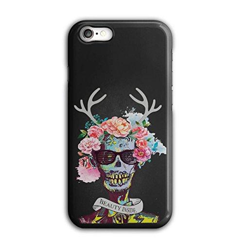Flower Sugar Skull Zombie Soul Costume Black 3D iPhone 7 Case | Wellcoda (Costume Ideas For 3)