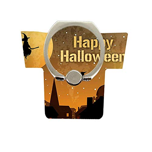 Halloween Pattern Cell Phone Ring Holder 360 Degree Rotation 180 Degree Flip Phone Ring Grip Finger Ring Stand Compatible Various Mobile Phones or Phone Case Happy Halloween -9]()