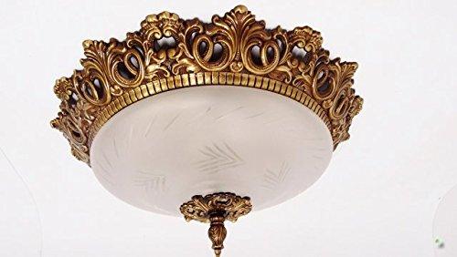 Plafoniere Smart : Deckenlampe metall gold glas 43 cm plafoniere schnörkel leuchte