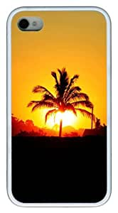 iphone 4 case Personalized custom covers Sunset TPU White for Apple iPhone 4/4S