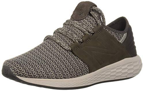 New Balance Men's Cruz V2 Fresh Foam Running Shoe, americano/flat white, 11.5 2E US (Best New Balance For Flat Feet)