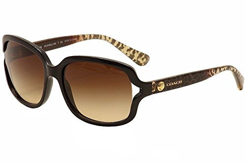 Coach Womens L149 Sunglasses (HC8169) Black/Brown Plastic - Non-Polarized - 57mm
