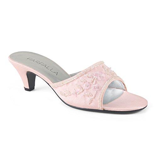 FARFALLA Luxury Mules (Pink, 4UK/37EU)