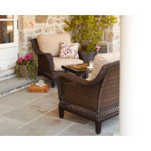 patio furniture outdoor lawn garden hampton bay woodbury with textured sand cushions - Hampton Bay Patio Chairs