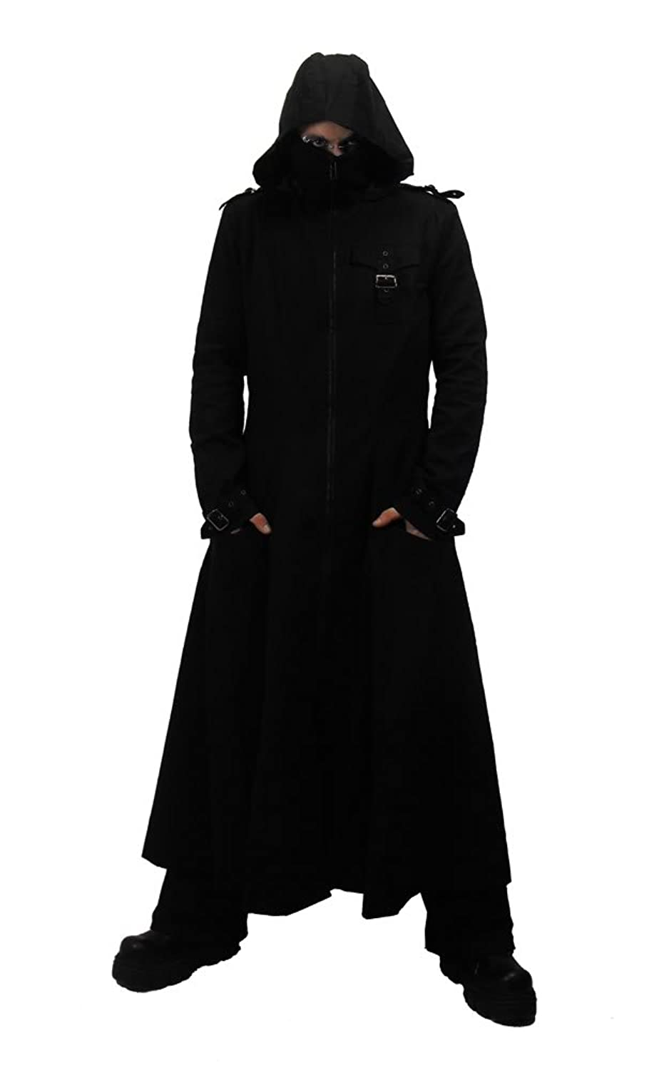 Necessary Evil Marduk Mens Hooded Trenchcoat - X-Large - Black at ...