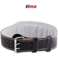 Tima's 2765 Leather Gym Belt (Black) Small (27 to 29 inches)