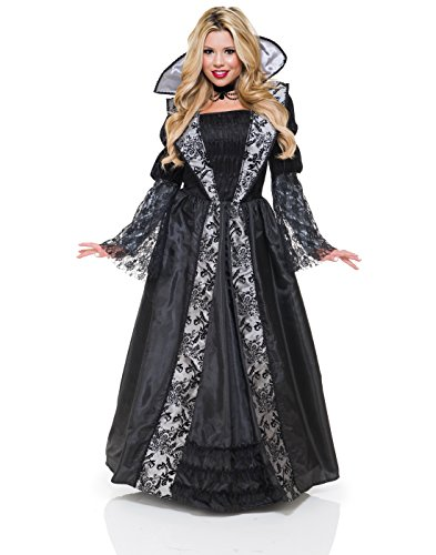 Charades Women's Vampire Countess Costume, As Shown, (Countess Dracula Costume)